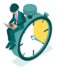Personne sur chronomètre
